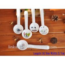 Haonai Новый дизайн Смешные и милые мини керамические ложки