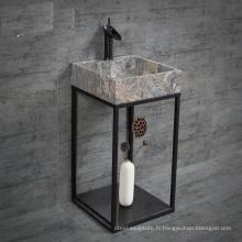 2018 nouveaux plans de vanité de salle de bains de granit de conception avec l'évier de navire
