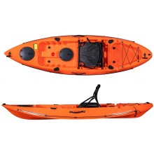 2020 China OEM wholesale hot sale new design single ocean fishing kayak with paddle and aluminum frame seat for sale