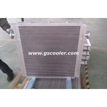 Refrigerador de óleo de ar para compressor de parafuso