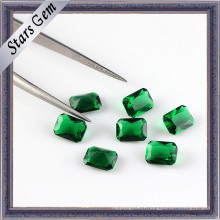Perles de pierres précieuses en zircone découpée en octogone