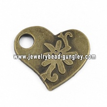 Beautiful heart shape jewelry alloy pendant necklace