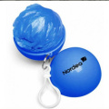 Promotional gift rain poncho in keychain balls
