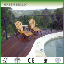 Mocha color smooth crack-resistant solid merbau garden decking
