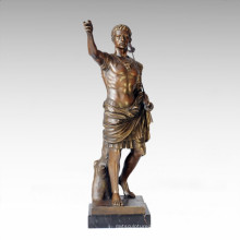 Soldiers Figure Statue Roman King Bronze Sculpture TPE-058
