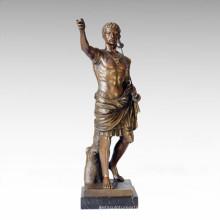 Статуя солдатских фигур Римский король Бронзовая скульптура TPE-058