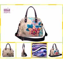 Embroidering Print Flower Hot Stamping Frame Bag Tote Handbags