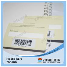 Carte de code à barres PVC 1d avec panneau de rédaction de signature