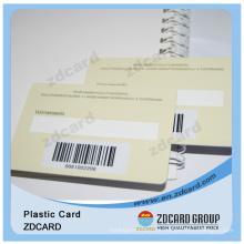 PVC 1d cartão de código de barras com assinatura escrevendo painel