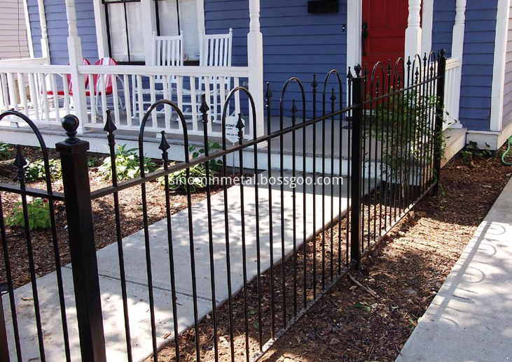 wrought iron stair fence
