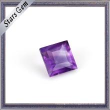 Мода квадратный бриллиант огранки натуральный Аметист камень для ювелирных изделий