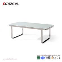 Table basse Orizeal moderne en verre de bureau en métal (OZ-OTB009)