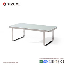 Orizeal Modern Office Glass Metal Coffee Table (OZ-OTB009)