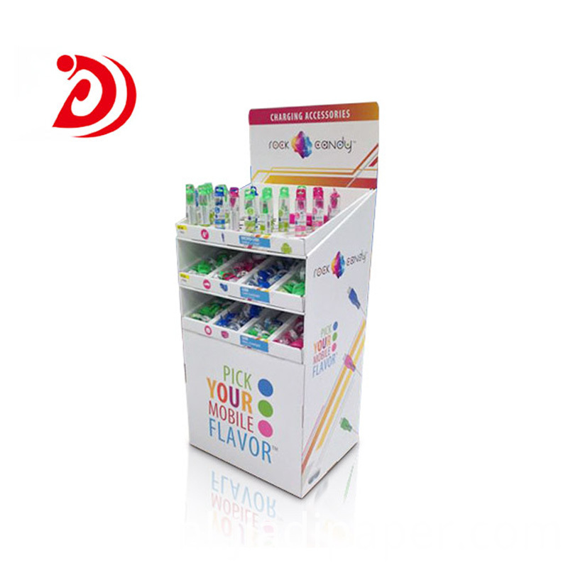 Retail floor display stands