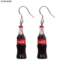 Creativity Cute Earrings Coke Bottle Resin South Korean 925 Silver Earrings