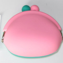 Pink and Green Silicone Wallet Bag (Gzhy-RW-001)