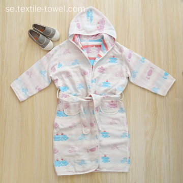 Bomull Badrock Barn Badrockar Robes For Kids