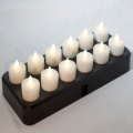 Elegante vela de tealight inductivo recargable LED