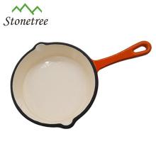 vente en gros poêle à frire recouverte de pierre en fonte avec poêle / poêle / poêle à frire / batterie de cuisine