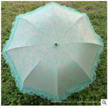 Promotionla Anti-UV Sonnenschirme, billig Großhandel Seidenschirm