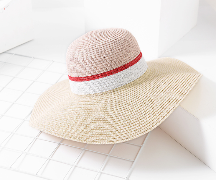 Wide Brimmed Paper Straw Hat