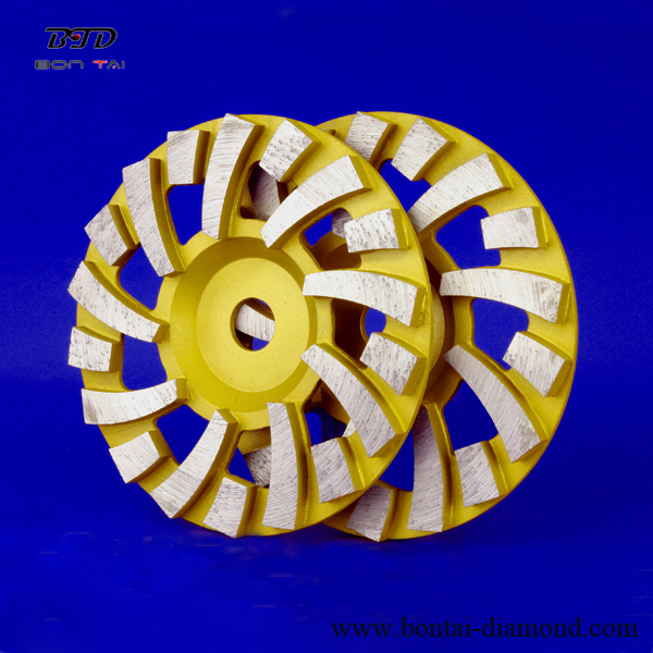 9 long 9 short 18 segmented turbo cup wheel