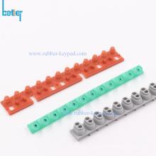 Digital piano keypad key electrical strip rubber contact