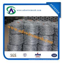 14X14 galvanizado / PVC arame farpado 30m comprimento por rolo