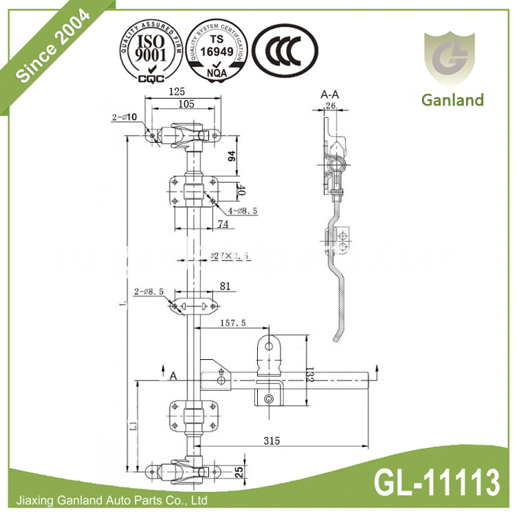 cabin light truck lock Gl 11113