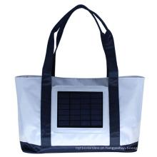 Bolsa de reserva traseira do carregador solar ECEEN com saco de praia com painel solar de 2.4W