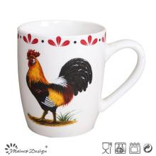 Tasse en porcelaine à base de poulet bon marché en céramique