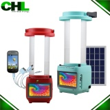 CHL solar energy led lantern lights with phone charger