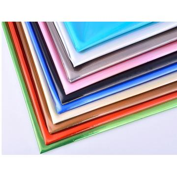 Colorful laser PU leather for bags and garment