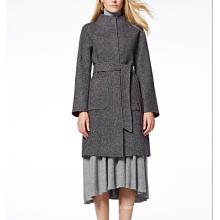 17PKCSC011 mulheres dupla camada 100% casaco de lã de caxemira