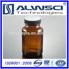 2014 Amber Glass Wide-Mouth Packer Flaschen mit PE-gefütterten Verschlüssen