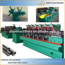 Acero al carbono Acero inoxidable cuadrado cuadrado rectángulo de soldadura de tubería de fabricación de línea de producción