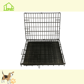 Bärbar Folding Black Pet Dog Cage With Handle