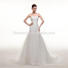 2016 nueva manera de corea del diseño profundo v-cuello vestido de bola vestido de boda por encargo más el tamaño hermoso vestido de boda paquistaní