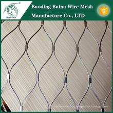 Китай Производители Металлические фасады Гибкая сетка из сетки Нержавеющая сталь Кабельная сетка Недорогая низкая цена на продажу