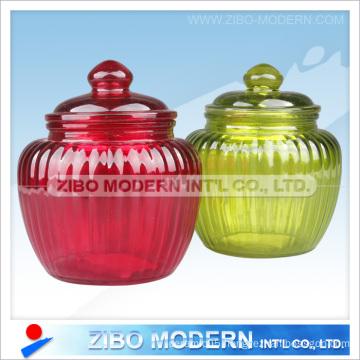 Glass Food Jar with Glass Lid