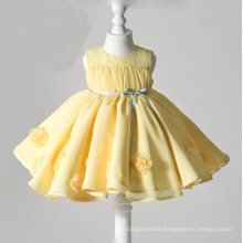 Yellow Organza Flower Girl Gowns