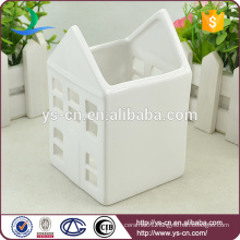 Wholesale white ceramic houses candlestick