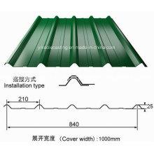 Feuille de toiture en acier ondulée galvanisée enduite de couleur de PPGI