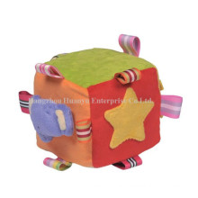 Factory Supply Peluches en peluche Rattle Block Toy