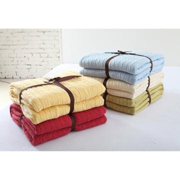 Nouvelle couverture de coton personnalisée en tricot