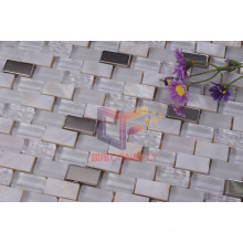 Natural Mother of Peral with Crystal and Stainless Steel Mosaic Tiles (CFP071)