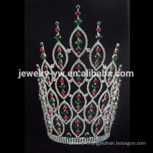 Large tall AB crystal pageant tiara crown