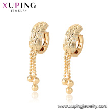 96890 xuping environmental copper gold plated fashion drop earring