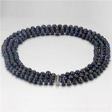 Snh 3 Reihen 8-9mm Hochzeits-Perlen-Halskette Großverkauf