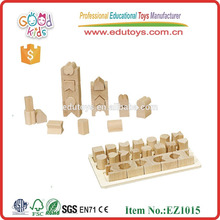 EZ1015 Good Quality 20 pieces Geometric Shape Learning Wooden Blocks Set for kids
